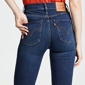 Levi's Mile High Super Skinny Dark Wash Jeans 26